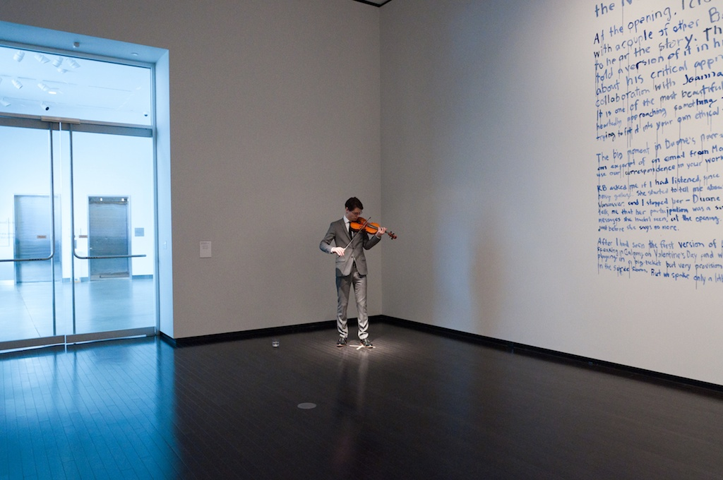Photo of performance in the gallery